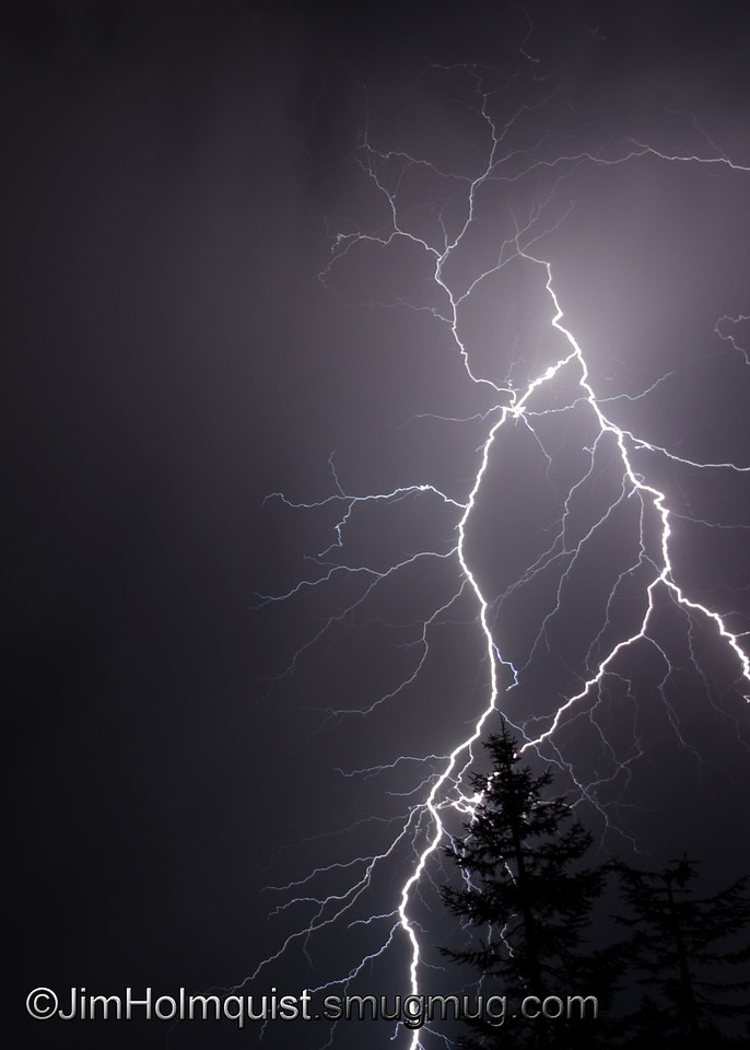"""E"" is for Electric <br /> <br /> Lightning during a night storm."